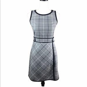 Tommy Hilfiger Gray Windowpane Plaid Dress NWOT